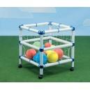Koš na míče robusní s kolečky (míče nejsou součástí výrobku)