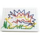 Šití - jednoduché vytváření obrázků. 4x hrací plocha + barevné provázky a předlohy.